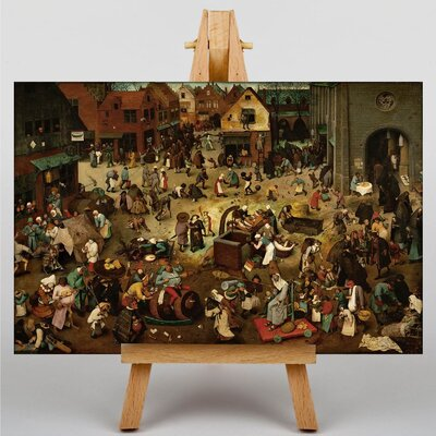 Big Box Art The Elder The Fight Between Carnival and Lent by Pieter Bruegel Art Print on Canvas
