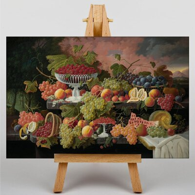 Big Box Art Still Life Fruit and Sunset by Severin Roesen Art Print on Canvas