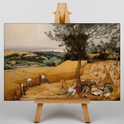 Big Box Art The Elder The Harvesters by Pieter Bruegel Art Print on Canvas