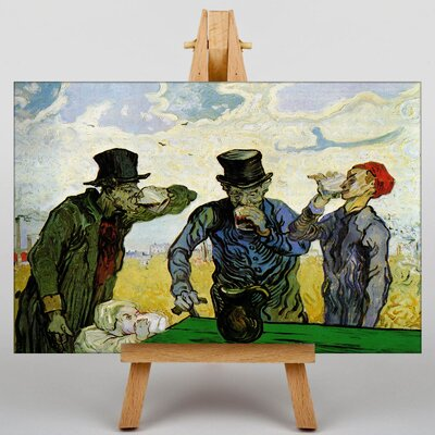 Big Box Art The Drinkers after Daumier by Vincent Van Gogh Art Print on Canvas