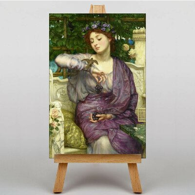 Big Box Art Lesbia and her Sparrow by Sir Edward John Poynter Art Print on Canvas