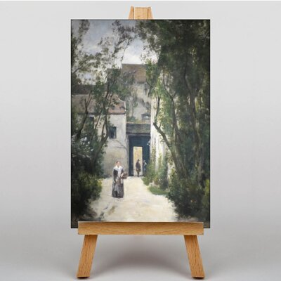 Big Box Art A Courtyard by Stanislas Lepine Art Print on Canvas