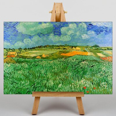 Big Box Art Plain Near Auvers by Vincent Van Gogh Art Print on Canvas