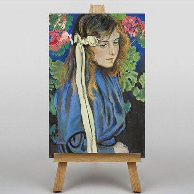 Big Box Art Young Girl by Stanislaw Wyspianski Art Print on Canvas