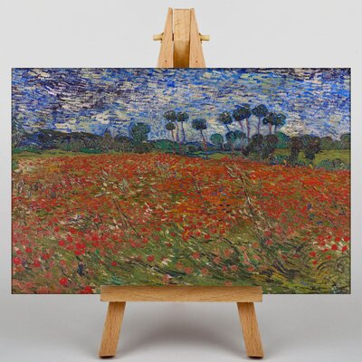 Big Box Art Poppy Field by Vincent Van Gogh Art Print on Canvas