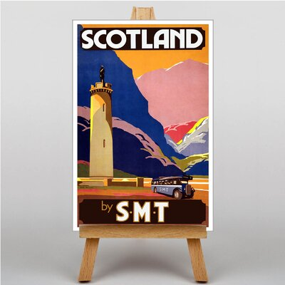 Big Box Art Scotland Vintage Advertisement on Canvas