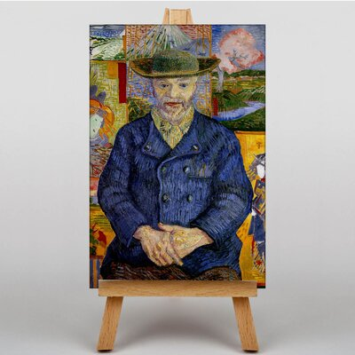 Big Box Art Portrait of Pecre Tanguy by Vincent Van Gogh Art Print on Canvas