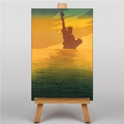 Big Box Art Statue of Liberty Vintage Advertisement on Canvas