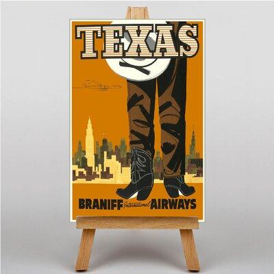 Big Box Art Texas Vintage Advertisement on Canvas