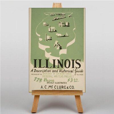 Big Box Art Visit Illinois Vintage Advertisement on Canvas