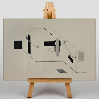 Big Box Art Proun 23 by El Lissitzky Graphic Art on Canvas