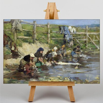 Big Box Art Washing in the Stream by Eugene Boudin Art Print on Canvas