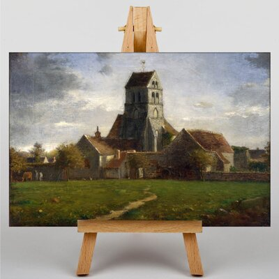Big Box Art Church by Jean-Francois Millet Art Print on Canvas