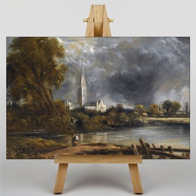 Big Box Art Salisbury Cathedral from the Meadows by John Constable Art Print on Canvas