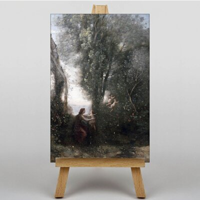 Big Box Art Cupids by Jean-Baptiste Camille Corot Art Print on Canvas