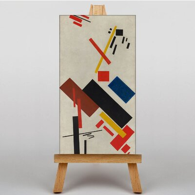 Big Box Art House Under Construction by Kazimir Malevich Graphic Art on Canvas
