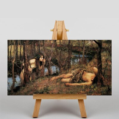 Big Box Art Waterhouse With a Nymph by John William Art Print on Canvas