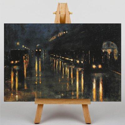 Big Box Art Train Station by Lesser Ury Art Print on Canvas