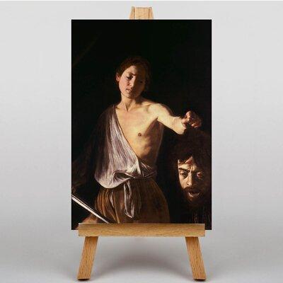 Big Box Art David with the Head of Goliath by Michelangelo Caravaggio David Art Print on Canvas