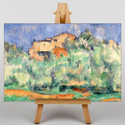 Big Box Art The Farm of Bellevue by Paul Cezanne Art Print on Canvas