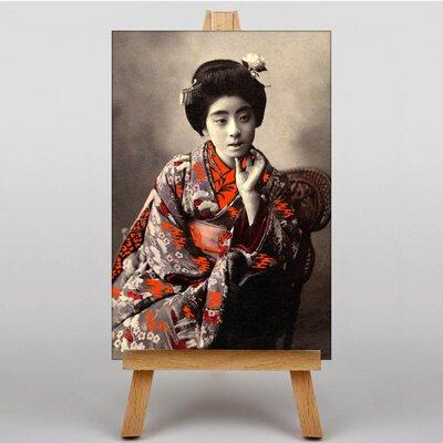 Big Box Art Japanese Geisha Girl No.3 Oriental Photographic Print on Canvas