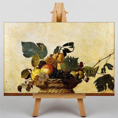 Big Box Art Caravaggio Fruit Basket by Michelangelo Art Print on Canvas