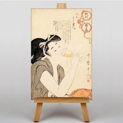 Big Box Art Vintage Japanese Oriental No.3 by Kitagawa Utamaro Art Print on Canvas