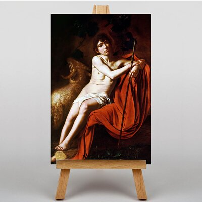 Big Box Art John the Baptist by Michelangelo Caravaggio John Art Print on Canvas