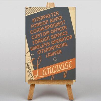 Big Box Art Language Typography on Canvas