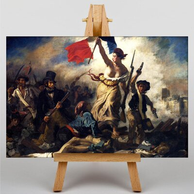 Big Box Art French Liberty by Eugene Delacroix Art Print on Canvas