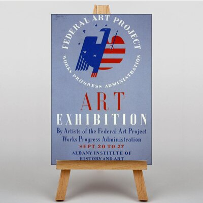 Big Box Art Exhibition No.38 Vintage Advertisement on Canvas