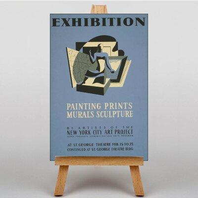 Big Box Art Exhibition No.40 Vintage Advertisement  on Canvas
