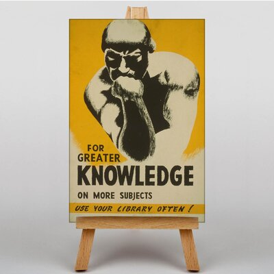 Big Box Art Greater Knowledge Vintage Advertisement on Canvas