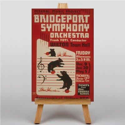 Big Box Art Bridgeport Symphony Orchestra Vintage Advertisement on Canvas