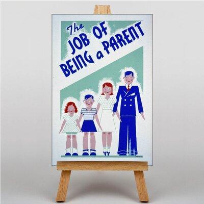 Big Box Art Being a Parent Vintage Advertisement on Canvas