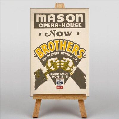 Big Box Art Brothers Vintage Advertisement on Canvas