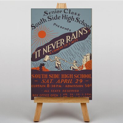 Big Box Art It Never Rains Vintage Advertisement on Canvas