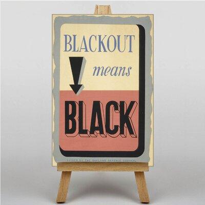 Big Box Art Blackout Typography on Canvas