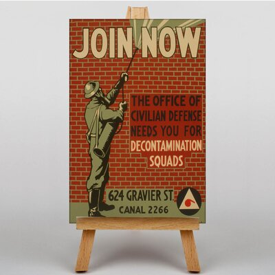 Big Box Art Join Now Vintage Advertisement on Canvas