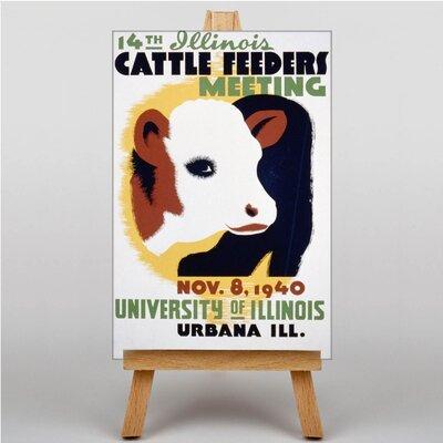 Big Box Art Cattle Feeders Vintage Advertisement on Canvas
