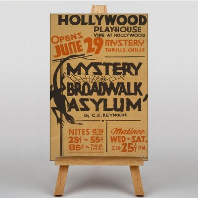 Big Box Art Mystery Broadwalk Asylum Vintage Advertisement on Canvas