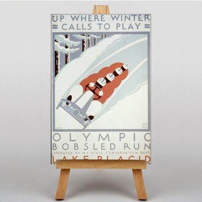 Big Box Art Olympic Bobsled Run Vintage Advertisement on Canvas