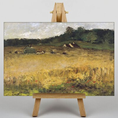 Big Box Art Wheat Field by William Merritt Chase Art Print on Canvas