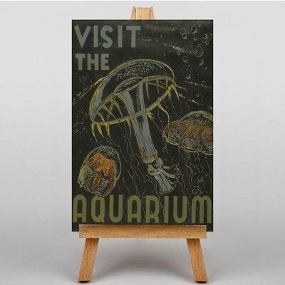 Big Box Art Visit the Aquarium No.2 Vintage Advertisement on Canvas