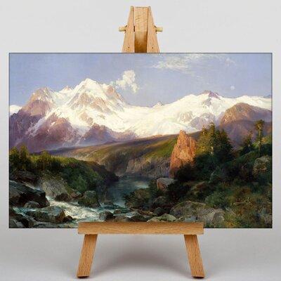 Big Box Art Teton Range by Thomas Moran Art Print on Canvas