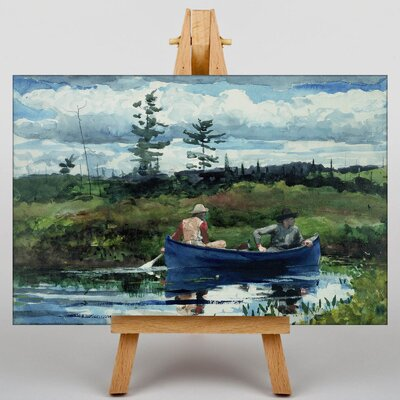 Big Box Art The Blue Boat by Winslow Homer Art Print on Canvas