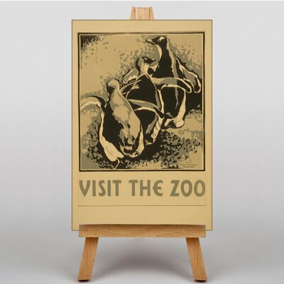 Big Box Art Visit the Zoo No.1 Vintage Advertisement on Canvas