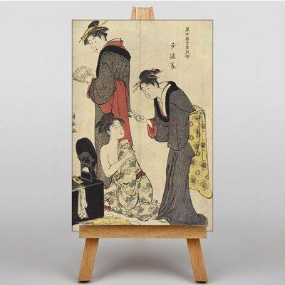 Big Box Art Japanese Oriental No.2 by Torii Kiyonaga Art Print on Canvas