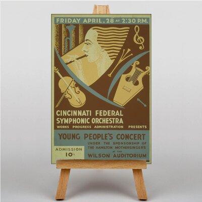 Big Box Art Symphonic Orchestra Vintage Advertisement on Canvas