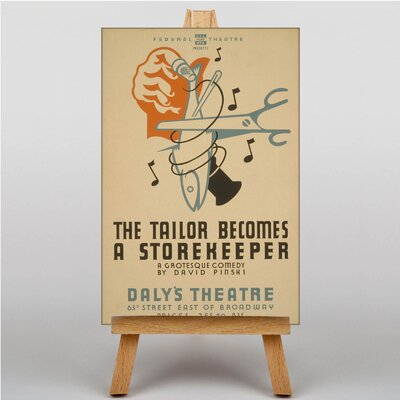 Big Box Art Tailor Becomes a Storekeeper Vintage Advertisement on Canvas